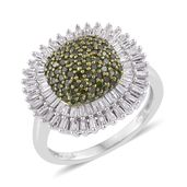 Diamond, Green Diamond (IR) 14K YG and Platinum Over Sterling Silver Ring (Size 6.0) TDiaWt 1.00 cts, TGW 1.00 cts.
