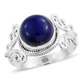 Artisan Crafted Lapis Lazuli Sterling Silver Ring (Size 6.0) TGW 4.75 cts.