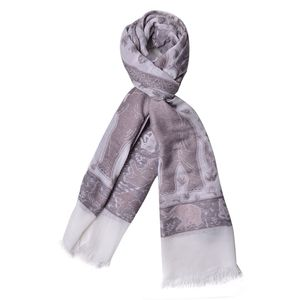 Rose Tan Anilmal Pattern 100% Acrylic Scarf (27.55x75.59 in)