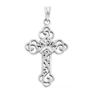Artisan Crafted Sterling Silver Cross Pendant without Chain (2.7 g)