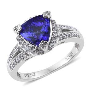 ILIANA 18K WG Premium AAA Tanzanite, Diamond Ring (Size 9.0) TDiaWt 0.54 cts, TGW 3.34 cts.