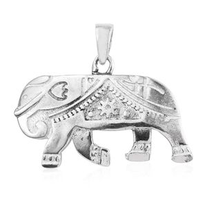 Sterling Silver Elephant Pendant without Chain (4.5 g)