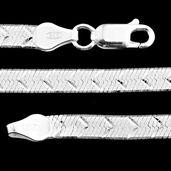 Sterling Silver Herringbone Chain (18 in)
