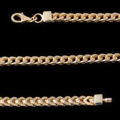 14K YG Over Sterling Silver Foxtail Chain (26 in)