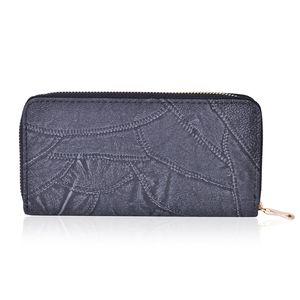 Black Vegan Leather Wallet (7.5x1x4 in)