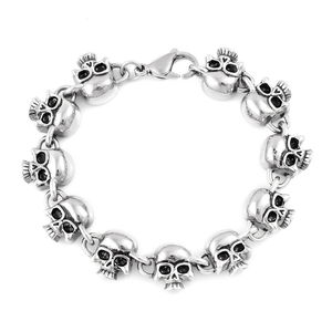 Black Oxidized Stainless Steel Bracelet (9.00 In)