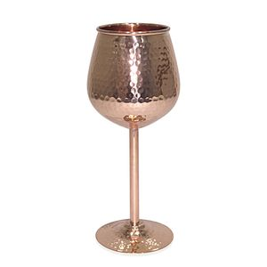 Snifter/Martini Beer Glasses in Copper with Hammered Look (10 Oz) (7 in)