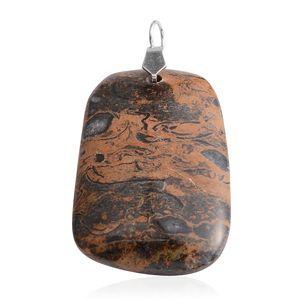 Gem Workshop Wooden Jasper Pendant without Chain TGW 119.00 cts.