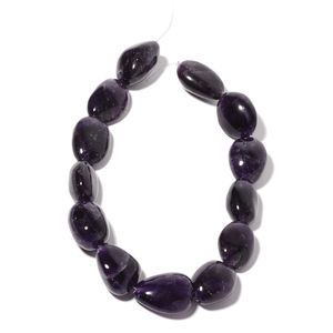 Gem Workshop Amethyst Bead Strand (16 in, 18 mm) Total Gem Stone Weight 783.50 Carat