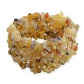 Yellow Opal Chips Widen Bracelet (Stretchable) TGW 356.50 cts.