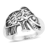 Artisan Crafted Sterling Silver Elephant Ring (Size 7.0)