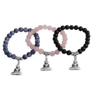 Multi Gemstone Silvertone Set of 3 Beaded Charm Bracelet  (Stretchable) TGW 282.00 cts.
