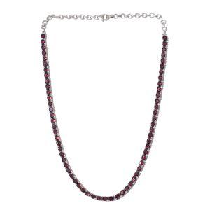 One Day TLV Orissa Rhodolite Garnet Platinum Over Sterling Silver Necklace (18 in) TGW 26.24 cts.