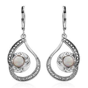 Natural Australian Opal Stainless Steel Earrings TGW 0.92 cts.