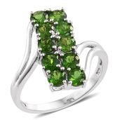 Russian Diopside Platinum Over Sterling Silver Ring (Size 10.0) TGW 2.71 cts.