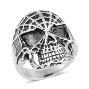Halloween Black Oxidized Stainless Steel Ring (Size 11.0)