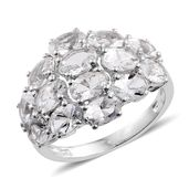 Petalite Platinum Over Sterling Silver Ring (Size 6.0) TGW 5.00 cts.