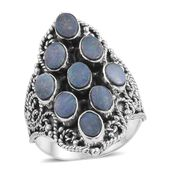Artisan Crafted Australian Boulder Opal Sterling Silver Ring (Size 7.0) TGW 3.27 cts.