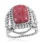 Norwegian Thulite Sterling Silver Ring (Size 8.0) TGW 8.12 cts.