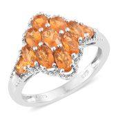 Salamanca Fire Opal Platinum Over Sterling Silver Ring (Size 7.0) TGW 1.46 cts.