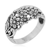 Bali Legacy Collection Sterling Silver Ring (Size 5.0)