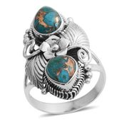Bali Legacy Collection Mojave Blue Turquoise Sterling Silver Ring (Size 6.0) TGW 3.20 cts.
