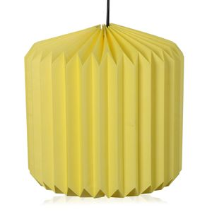 Yellow Paper Cylendrical Shape Lantern with Electical Holder and Wire (22x13 in)