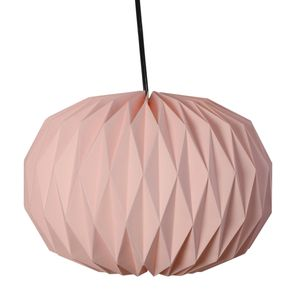 Pink Paper Round Shape Lantern with Electical Holder and Wire (18x14 in)