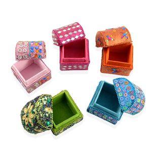 Multi Color Set of 5 Small Treasure Box