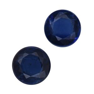 Himalayan Kyanite Set of 2 (Rnd 6 mm) TGW 1.70 cts.
