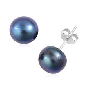 Freshwater Peacock Pearl Sterling Silver Stud Earrings