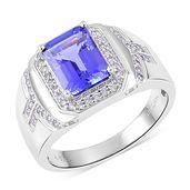 ILIANA 18K WG Premium AAA Tanzanite, Diamond Ring (Size 12.0) TDiaWt 0.50 cts, TGW 4.65 cts.