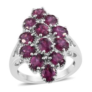 Nitin's Knockdown Deals Mahenge Umbalite Platinum Over Sterling Silver Ring (Size 7.0) TGW 4.20 cts.
