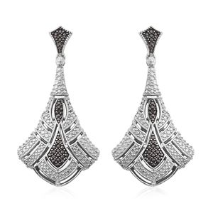 KARIS Collection - Black Diamond Accent (IR) Platinum Bond Brass Earrings