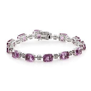Pink Moscato Quartz Bracelet in Platinum Over Sterling Silver 35.99 ct tw (Size 7.25 in)