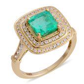 ILIANA 18K YG Boyaca Colombian Emerald, Diamond Ring (Size 7.0) TDiaWt 0.58 cts, TGW 2.08 cts.