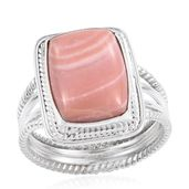 Artisan Crafted Peruvian Pink Opal Sterling Silver Ring (Size 6.0) TGW 6.70 cts.