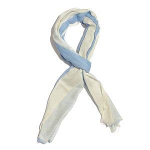 Blue Ombre 100% Merino Wool Scarf (84x28 in)