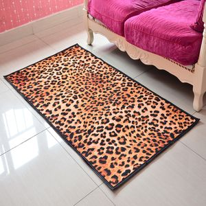 Leopard Pattern 100% Polyester Slip-Resistant Rug (31.5x59 in)