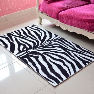 Zebra Pattern 100% Polyester Slip-Resistant Rug (31.5x59 in)