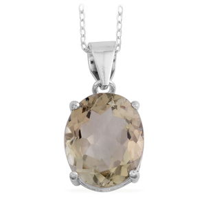 Green Amethyst Sterling Silver Pendant With Chain (18 in) TGW 3.57 cts.