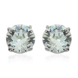 Green Austrian Crystal Stainless Steel Stud Earrings