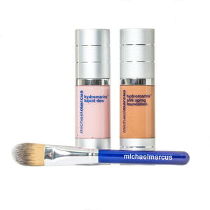 Michael Marcus 3 Pc Hydromarine Anti-Aging Foundation, Hydrmarine Liquid Dew (1 oz) (Dark)