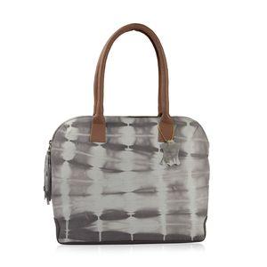 Taupe Genuine Leather RFID Tie-dye Shoulder Bag (16.5x12x3 in)