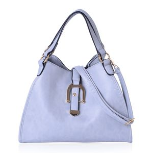 Grey Faux Leather Hobo Bag with Handle Drop, Nylon Zipper and Shoulder Strap (13.5x5.6x10.2 in)