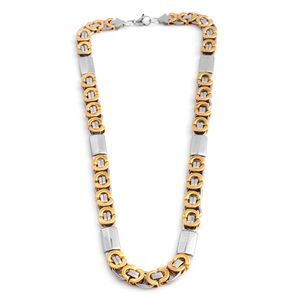 ION Plated YG and Stainless Steel Multi Link Necklace (24 in)