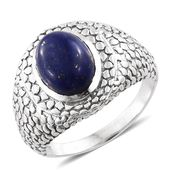 Lapis Lazuli Sterling Silver Men's Ring (Size 10.0) TGW 6.45 cts.