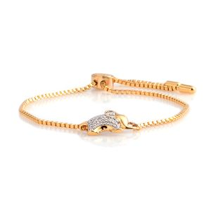 Diamond Goldtone Bracelet (9.00 In)