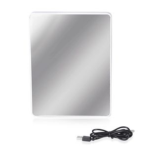 White Glass Square Shape LED Photo Frame Mirror (3xAAA Batteries Require) TGW 1000.00 cts.