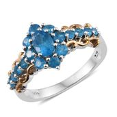 Malgache Neon Apatite 14K YG and Platinum Over Sterling Silver Ring (Size 5.0) TGW 1.68 cts.